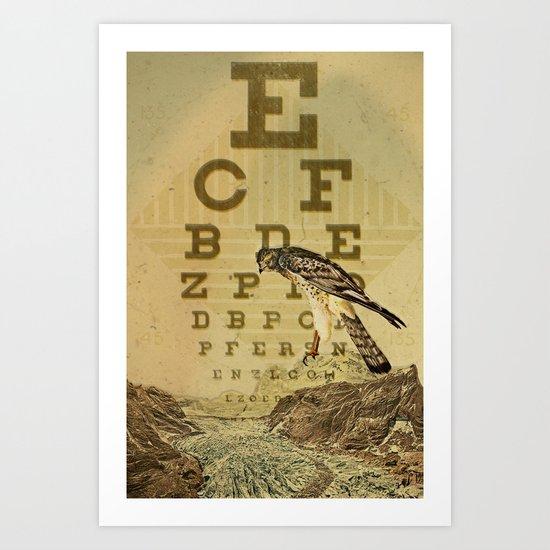 eye chart I Art Print