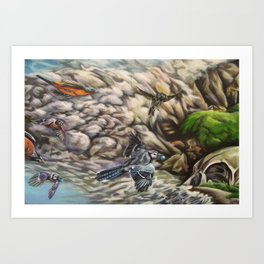 Uprooted (part 2) Art Print