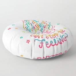 Got that Sunshine in My Pocket Can't Stop the Feeling Trolls Movie Hand Lettered Design Floor Pillow