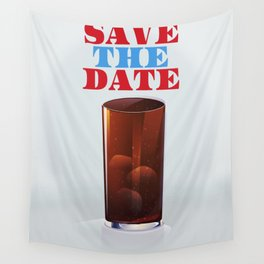 Save the date vintage soda ad. Wall Tapestry
