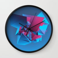 witchcraft Wall Clocks featuring Witchcraft by George Smith 3