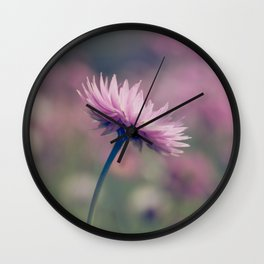 Pink Paper Daisy Wall Clock