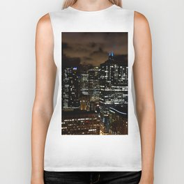 Chicago Night Skyline Biker Tank