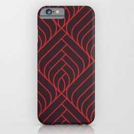 Art déco red and black geometric pattern  for fine home decoration iPhone Case