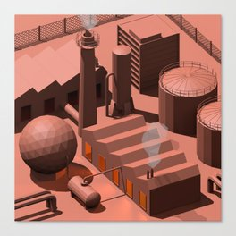 Low Poly Industry Canvas Print