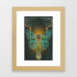Keeper Of The Ancient Flame Framed Art Print