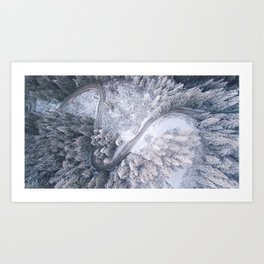 Aerial Curves Art Print
