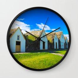 Traditional icelandic farmhouse Wall Clock