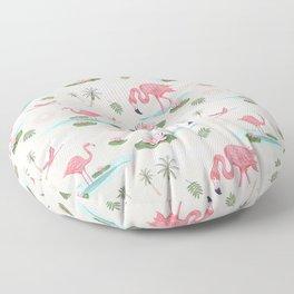 Flamingos and waterlilies Floor Pillow