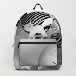 dreaming of mooncats bw -4- Backpack