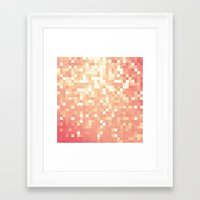 peach Framed Art Prints featuring Peach by WhimsyRomance&Fun