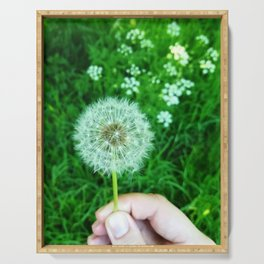 Dandelions and dreams Serving Tray