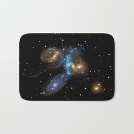 Stephan's Quintet of Five Galaxies in Constellation Pegasus Deep Space Telescopic Photograph Bath Mat