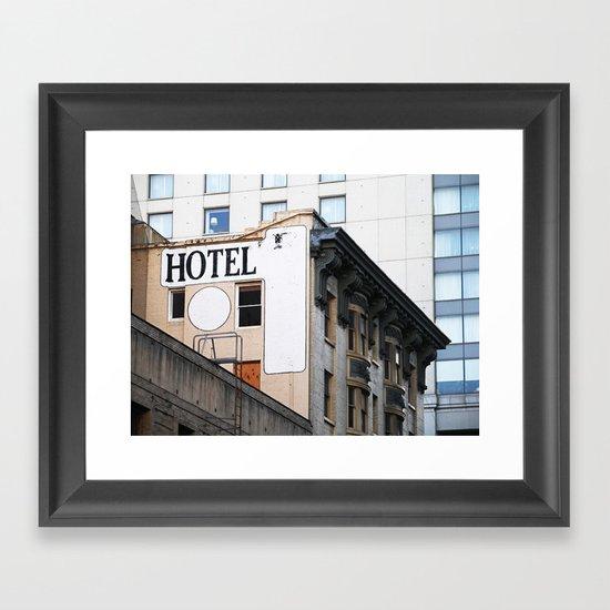H OTEL Framed Art Print