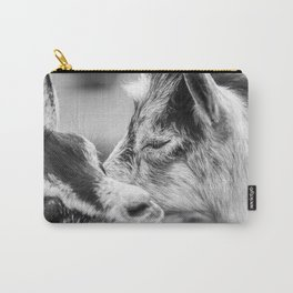 Moment of the Goats | Black and White Carry-All Pouch