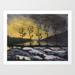 Forever lonely trees (The Danish Girl interpretation) Art Print