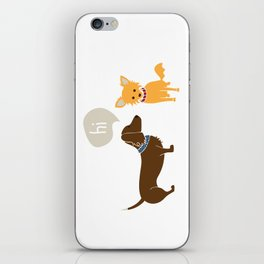 Bosco the Dachshund greets Pipsqueak the Jack Chi Mix iPhone Skin