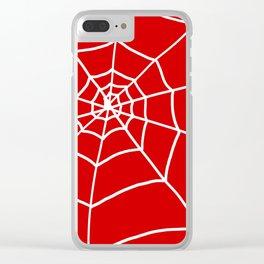 Red Web Clear iPhone Case