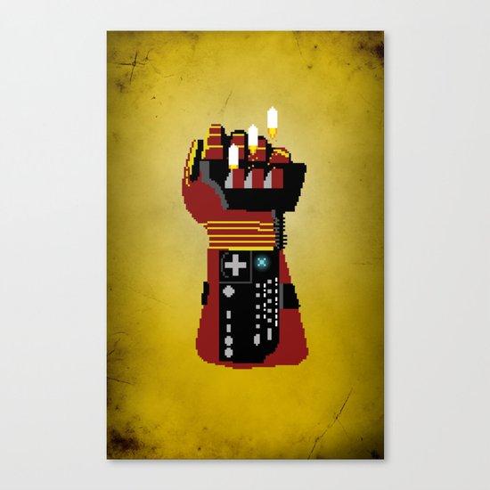 Power Glove Love: Iron Man Canvas Print