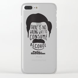 Parks and Recreation Ron Swanson Funny T-Shirt Clear iPhone Case