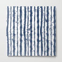 Wet Stripe Metal Print