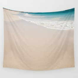 white sandy beach Wall Tapestry