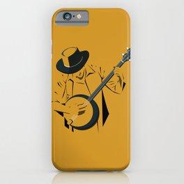 A Man Playing Banjo 1 iPhone Case