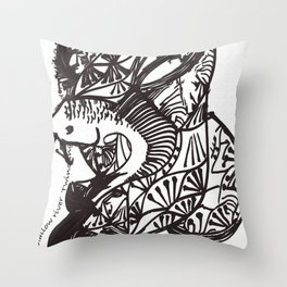 Shallow River Young Leaves Throw Pillow