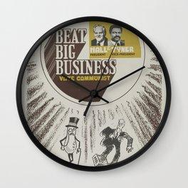 Vintage Poster - Beat Big Business, Vote Communist (1975) Wall Clock