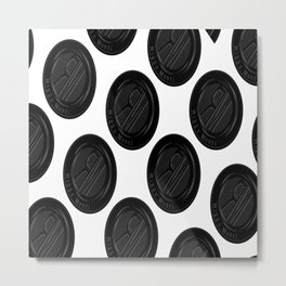 Riggo Monti Design #4 - Riggo Emblem Diagonal Pattern (Wht. Bkgrnd.) Metal Print