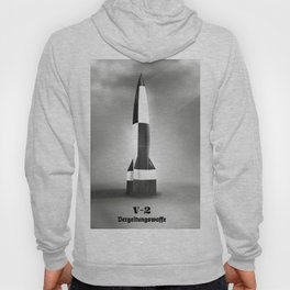 retro space rocket B&W Hoody