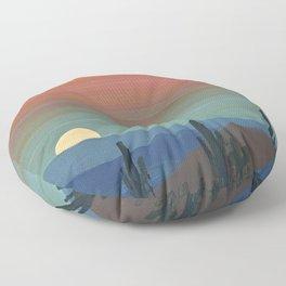 Arizona Moonrise Floor Pillow