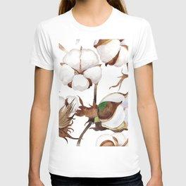 Cotton Flower Pattern 01 T-shirt