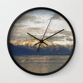 Yet another lake & mountain landscape   2 Wall Clock