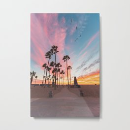 Venice Beach Nature's Fireworks Metal Print