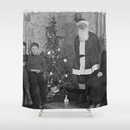 Vintage X-mas Shower Curtain