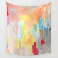 study Wall Tapestries featuring Abstract Study by Kim Leutwyler