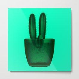 x-ray cactus Metal Print