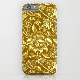 William Morris Sunflowers, Mustard and Golden Yellow iPhone Case