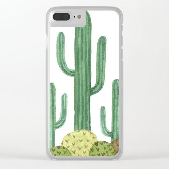 Classic Desert Cactus Clear iPhone Case