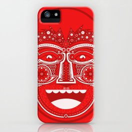 Red Is Mad iPhone Case