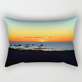 Traditional Seaside Sunset Rectangular Pillow
