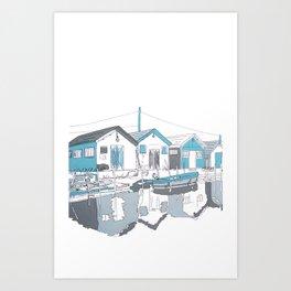 cabanes Art Print