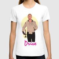 ryan gosling T-shirts featuring Drive - Ryan Gosling by Just Jolt