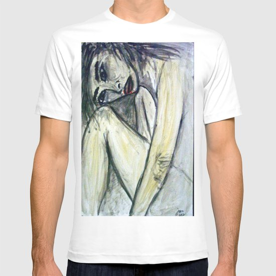 NUDE IN DEEP THOUGHTS T-shirt