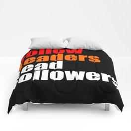2010 - Don't Follow Leaders Lead Followers (Black) Comforters