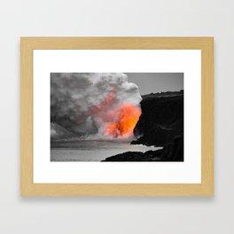 Lava Meets Ocean Framed Art Print
