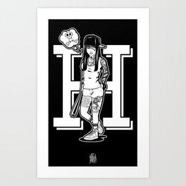 Hood girl Art Print
