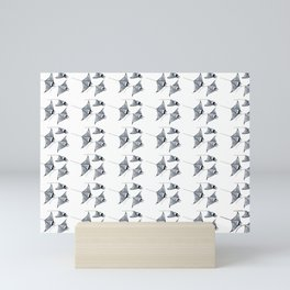 Manta ray devil fish Mini Art Print