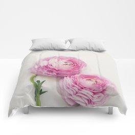 Pink Peonies 2 Comforters